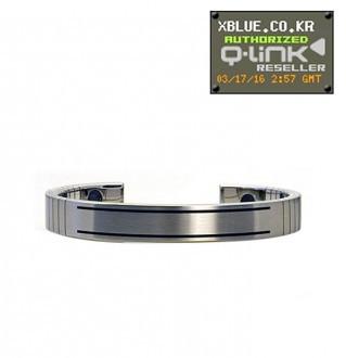 [X-BLUE]Q-Link bracelet for Men Stainless Steel 男性用手镯 不锈钢
