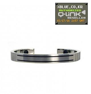 [X-BLUE]Q-Link bracelet for Woman Stainless Steel 女性用手镯 不锈钢