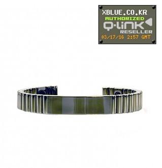 [X-BLUE]Q-Link bracelet Silver Titanium 手镯 銀钛