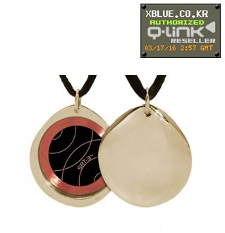 [X-BLUE]Q-Link pendant Gold Pebble Polished 项链坠